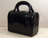 1950's Black Box Purse