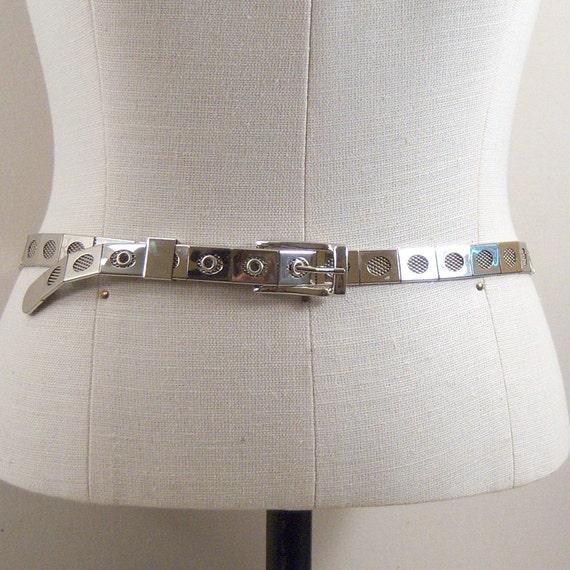 Reserved for Janet:  Mod Silver Belt