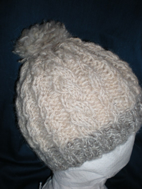 Knit Cable Hat made of Icelandic Wool and Alpaca