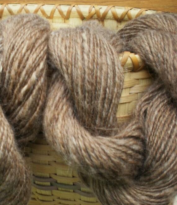 Handspun Brown Icelandic yarn