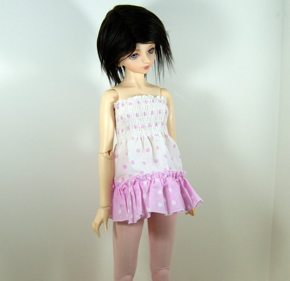 SD, SD13 Pink and White Smocked Top for BJD