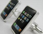 Mens Cuff links- Copper Fashion Cuff links iphone Design