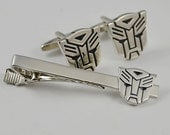 Free Shipping - Transformer Cufflinks- Autobot Optimus Prime Cufflinks and a Tie Clip,  with a Gift Box