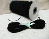 1mm Black Elastic Cord - Choose your length
