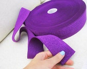 """End of Roll Offer: 2"""" Purple Elastic Band - 1.9 meters"""