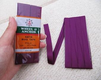Satin Bias Tape - Purple Plum