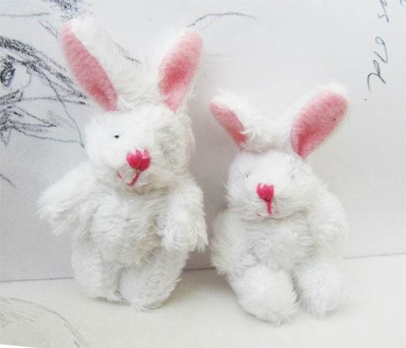 LAST: 1pc Extra Fluffy White Rabbit Miniature Toy