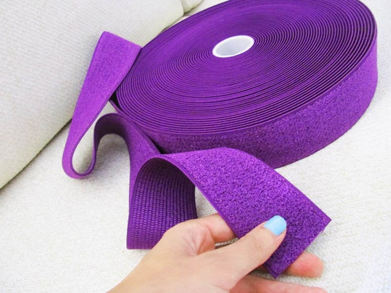 "End of Roll Offer: 2"" Purple Elastic Band - 1.9 meters"