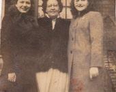 Vintage Photo - Three Ladies -  Vintage Photograph, Vernacular, Found Photo