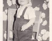 Little Boy Kneeling on a Chair - Vintage Photograph (C)