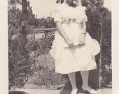 Vintage Photo - Alma in Her White Dress - Vintage Photograph - Vernacular - Found Photo (D)
