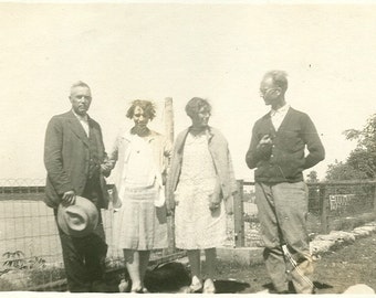 Vintage Photo - Ladies and Gents in Canada -  Vintage Photograph, Vernacular, Found Photo, Black and White