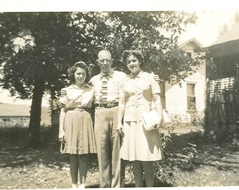 Vintage Photograph - Dad and His Girls, Vernacular