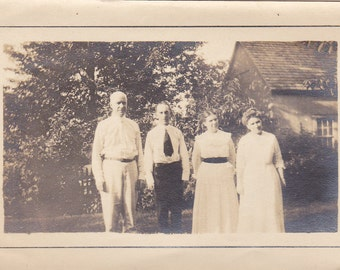 Vintage Photo - Two Guys and Two Gals - Vintage Photograph, Vernacular, Found Photo, Snapshot