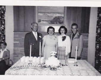 Anniversary Couple and Children - Vintage Photograph