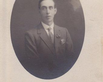 Young Man - Vintage Photograph, Vernacular, Found Photo, Ephemera  (C)