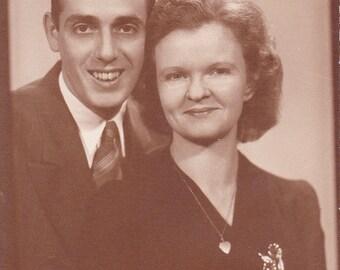 A Lovely Couple - Vintage Photograph, Vernacular, Ephemera  (E)