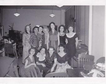 Vintage Photographs - Group of Ladies, Vernacular, Found Photos, Ephemera  (H)