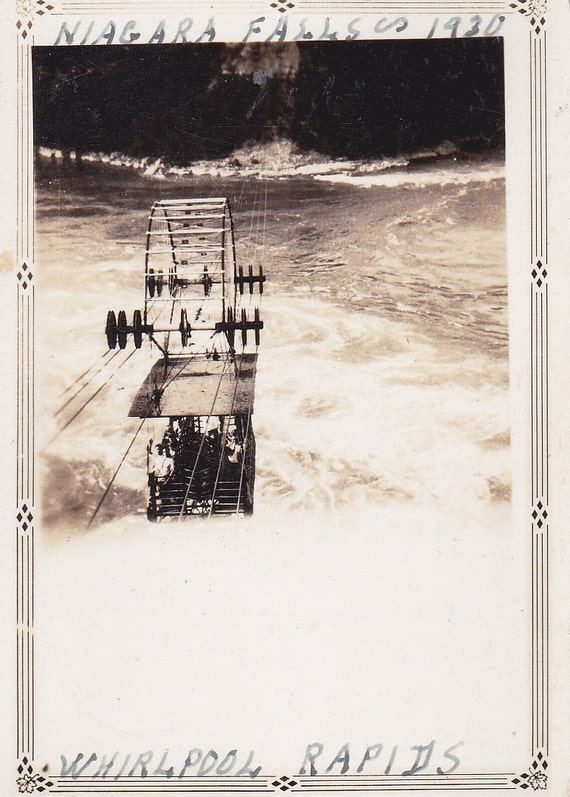 Whirlpool Rapids in Niagara Falls Vintage Photograph (HH)