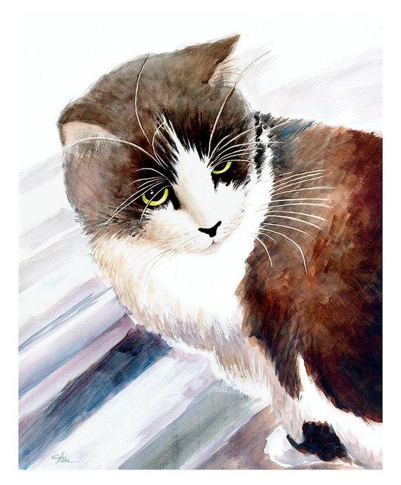 Tuxedo cat - GICLEE PRINT Tom Cat