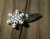 Winter Snowflake Hair Clip