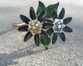 Flower Cuff Bracelet - Vintage Collage Collection