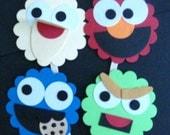 SESAME STREET CREW Cupcake Toppers