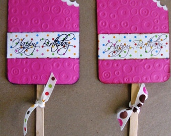 Party Favors Popsicle Lollipop Covers or Gift Card Holders for a Birthday Baby Shower Bridal Wedding Summer Pool Party