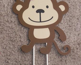 Mod Monkey Cake Topper