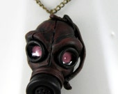 RESERVED Gas Mask Necklace RESERVED