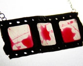 Horror Film Necklace, handmade, jewelry