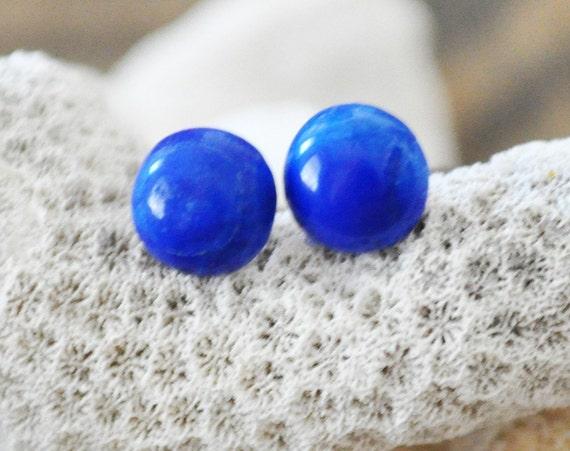 Cardigan Bay lapis lazuli earring studs