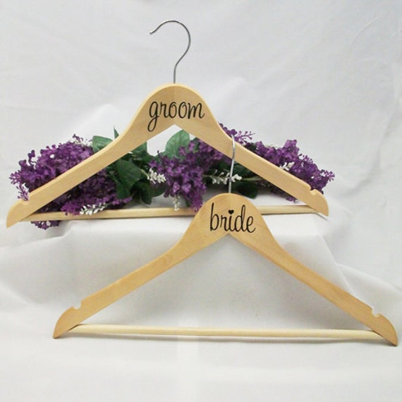 Diy Wedding Gifts For Bride And Groom: DIY Bride And Groom Stickers For Hangers By WicksnCandlesticks