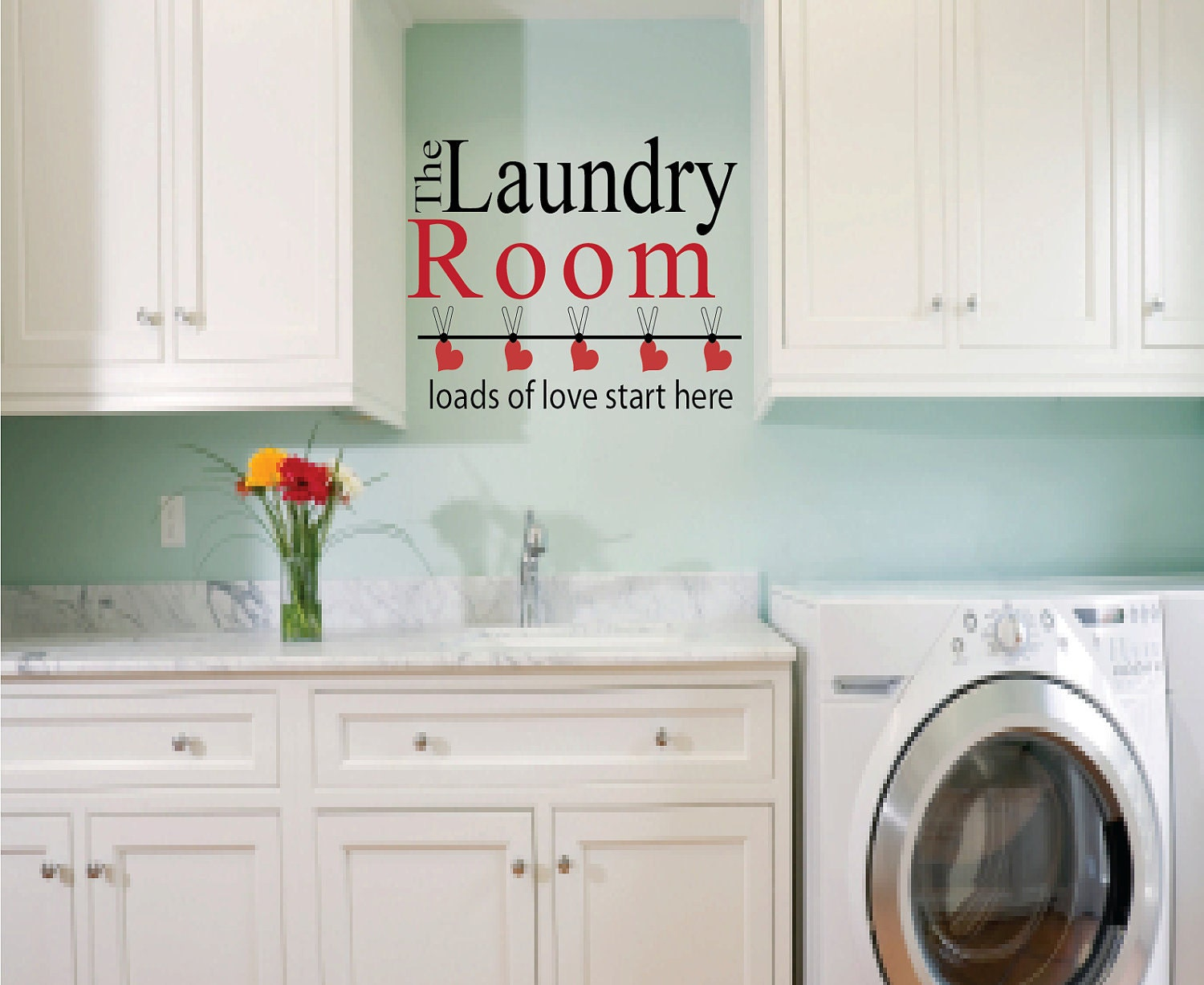 Http Etsy Com Listing 55712086 Laundry Room Wall Decal Loads Of Love