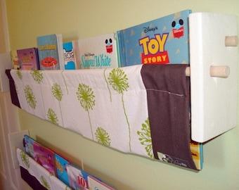 Nursery Storage Green Dandelion Book Sling - 100% profit donated to Compassion International