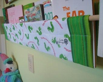 book storage sling -  Very Hungry Caterpillar- book storage shelf gender neutral nursery decor