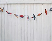 Illustrated bird garland kit