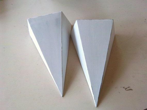 Cottage White Painted Tin Shelves