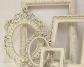 Picture Frames Shabby Chic Picture Frame Set Ornate Frames Ivory Heirloom White Victorian