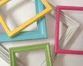Picture Frames Gallery Wall Shabby Chic Frame Set Eye Candy Colorful Bright Beach Cottage Home Decor