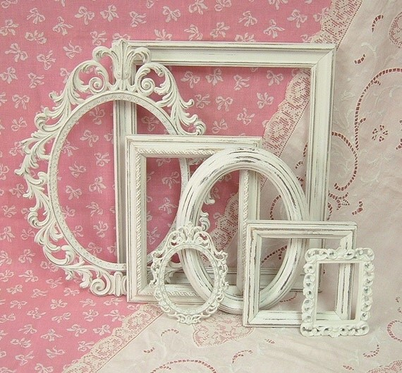 Shabby Chic Picture Frames White Ornate Collection French Victorian  | 570 x 529 · 104 kB · jpeg