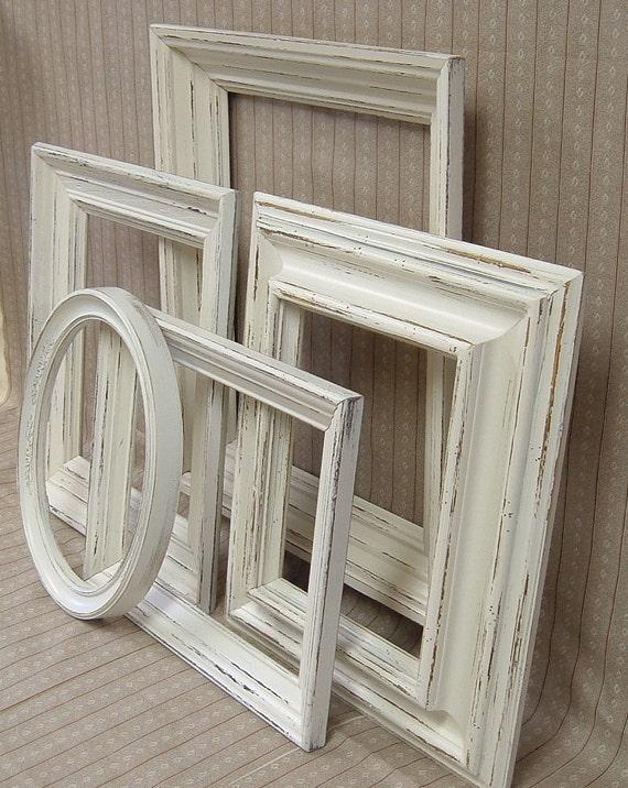 Shabby Chic Off White Picture Frames Cream Frame Set