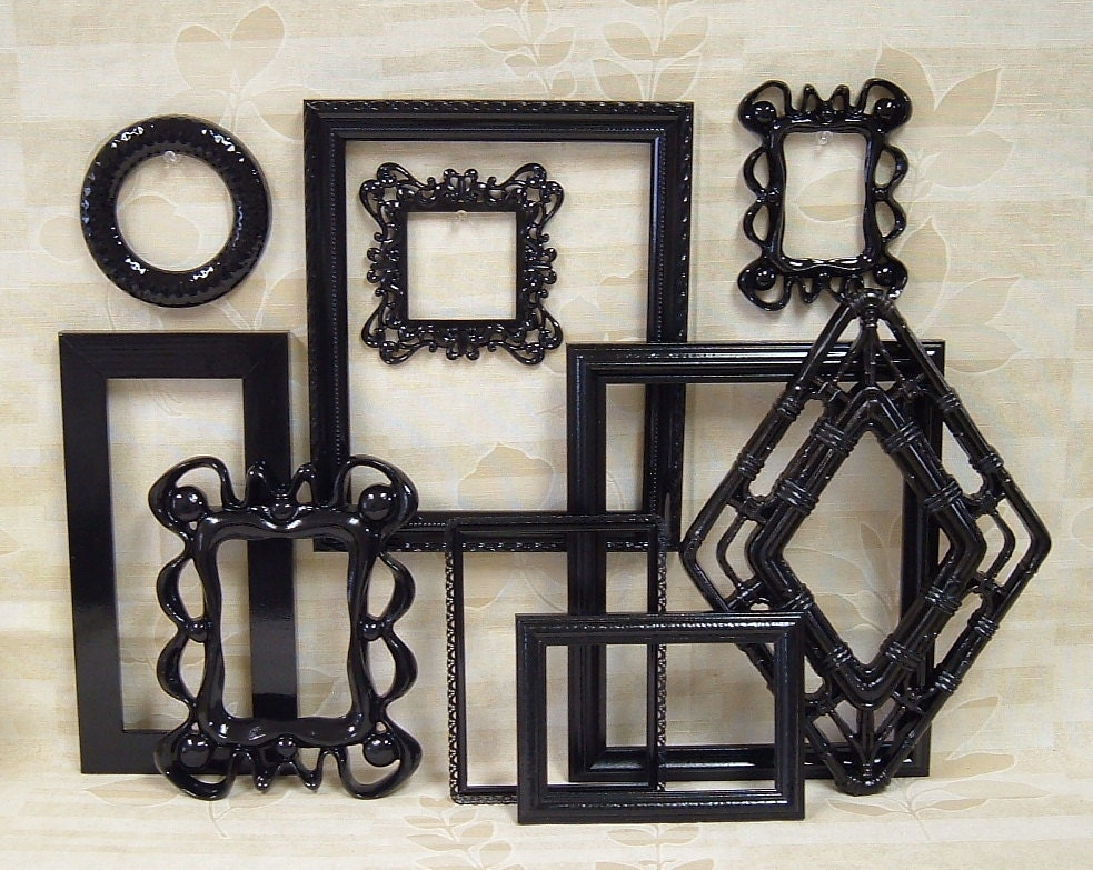Picture Frames Black Shabby Chic Picture Frame Set Ornate