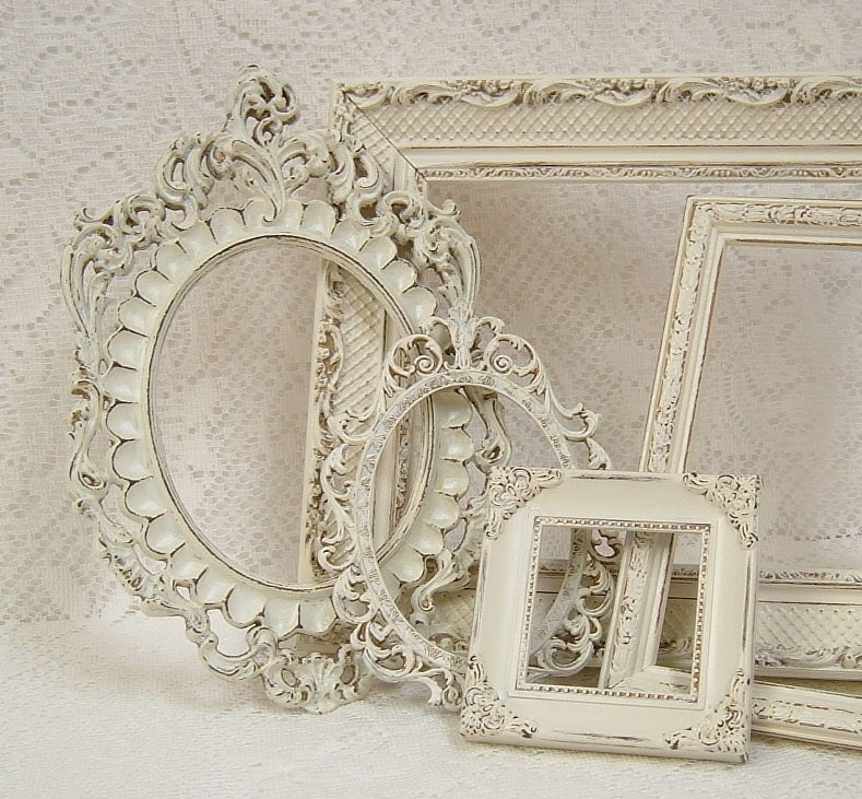 picture frames shabby chic picture frame set ornate frames