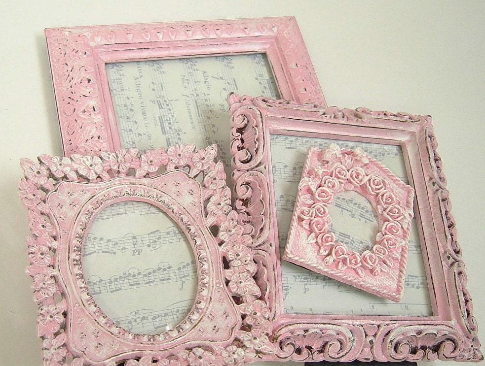 Shabby Chic Frames Pink Frame Set Ornate Frame Wedding Home
