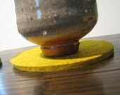 Mustard Yellow Coaster Set, Drink Coasters, Beverage Coasters
