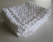 Organic Cotton Face Cloth, Facial Cleansing Cloth,  Pure White Spa Face Cloth