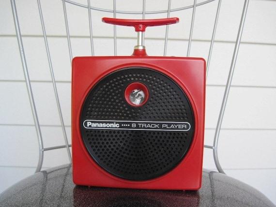 Vintage 1970's Retro Red Panasonic 8 Track Tape Player