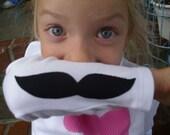 Mustache Shirt ....Childrens Fun Mustache Shirt....By Too Chute