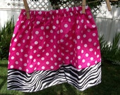 Fun Pink and Zebra Skirt........Boutique twirl skirt